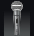 black microphone vector image vector image
