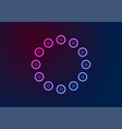 blue purple neon circles abstract geometric vector image vector image