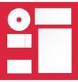 brand letterhead template vector image vector image