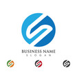 business corporate s letter logo design vector image vector image