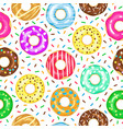 cartoon donuts pattern seamless glazed and vector image vector image
