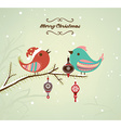 Christmas Background with Singing Birds vector image