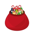 christmas bag gifts isolated icon vector image