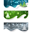 Collection of Christmas banners vector image vector image