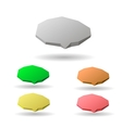Colorful 3d speech bubbles vector image