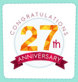 colorful polygonal anniversary logo 3 027 vector image vector image