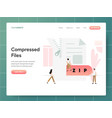 compressed file concept modern design concept vector image