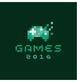 Consoles joystick gaming pixels flat style vector image