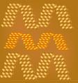 cubes of orange color vector image