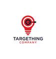 dartboard icon with bulb logo design vector image vector image
