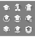 Education Flat Icons Set vector image