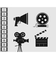 Elements set for filmmaking vector image