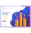 finncial growth landing page template men vector image