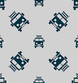 Fire engine icon sign Seamless pattern with vector image