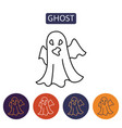 ghost cartoon halloween character vector image