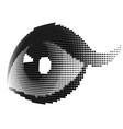 halftone human eye vector image vector image