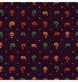 Halloween party skull background seamless pattern vector image vector image