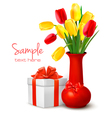 holiday background with flowers vector image vector image