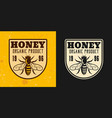 honey and beekeeping two colored emblem vector image vector image