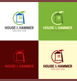house and hammer handyman logo and icon vector image