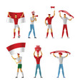 indonesia football fans cheerful soccer vector image vector image