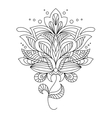 Intricate calligraphic floral design vector image vector image