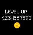 level up pixel vector image vector image