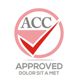 Logo Approved Icon Acc Concept vector image
