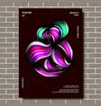 modern poster splatter minimalist vector image vector image