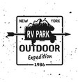outdoor expedition black vintage emblem vector image vector image