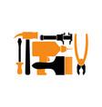 repair logo repairs tool emblem instrument sign vector image vector image