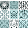 retro set backgrounds vector image vector image
