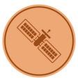 satellite bronze coin vector image vector image