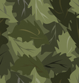 seamless background dark leaves vector image vector image