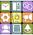 Set of flat white icons vector image vector image