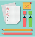 Set of marker pens colourful highlighters drawing vector image