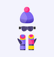 Skiing snowboarding mask goggles eyewear and vector image