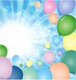 sky balloons vector image