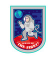 space man on mars patch sticker print vector image vector image