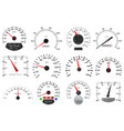speedometer and tachometer scales large vector image vector image