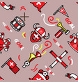 switzerland soccer supporter seamless pattern vector image vector image