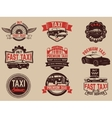 Taxi service labels and emblems template Taxi vector image vector image