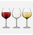 Tree Glasses With Wine vector image vector image