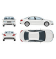 white car template vehicle branding mockup vector image vector image