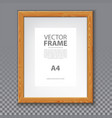 wooden frame for photo or a4 message 3d board vector image vector image