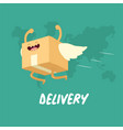 your package rushes to you through whole vector image vector image