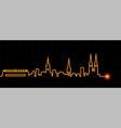 zagreb light streak skyline vector image vector image