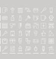 line bathroom icon sets vector image