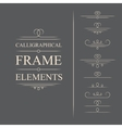 calligraphic frame elements vector image