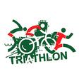 Triathlon race vector image